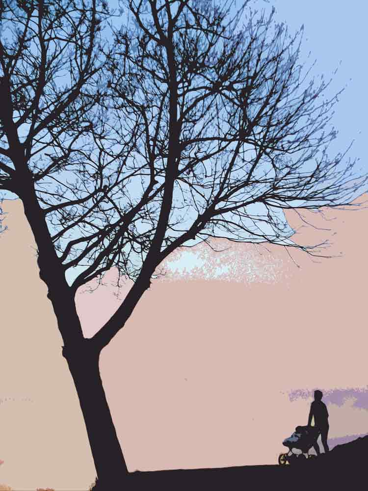 Art by Nicole Kudera, Tilted Tree