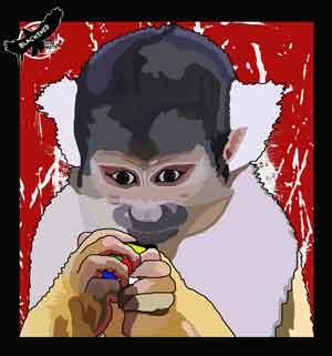 Clever Monkey, original art by Nicole Kudera