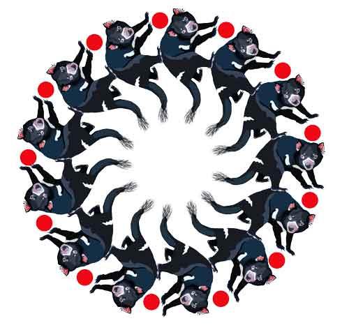 Devil Mandala, original art by Nicole Kudera