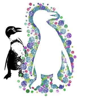 Magic Penguin, original art by Nicole Kudera
