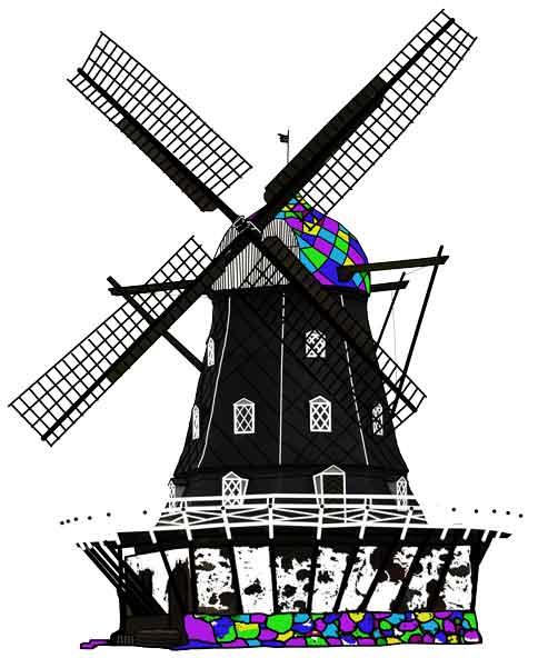 Windmill, original art by Nicole Kudera