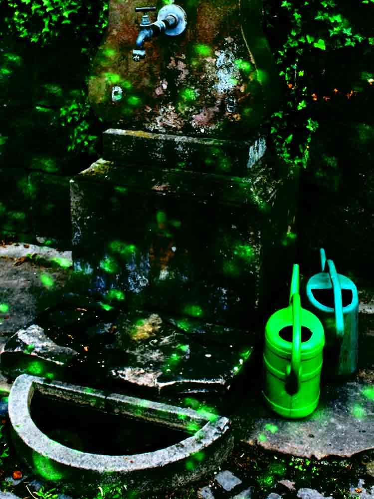 Art by Nicole Kudera, Green Water