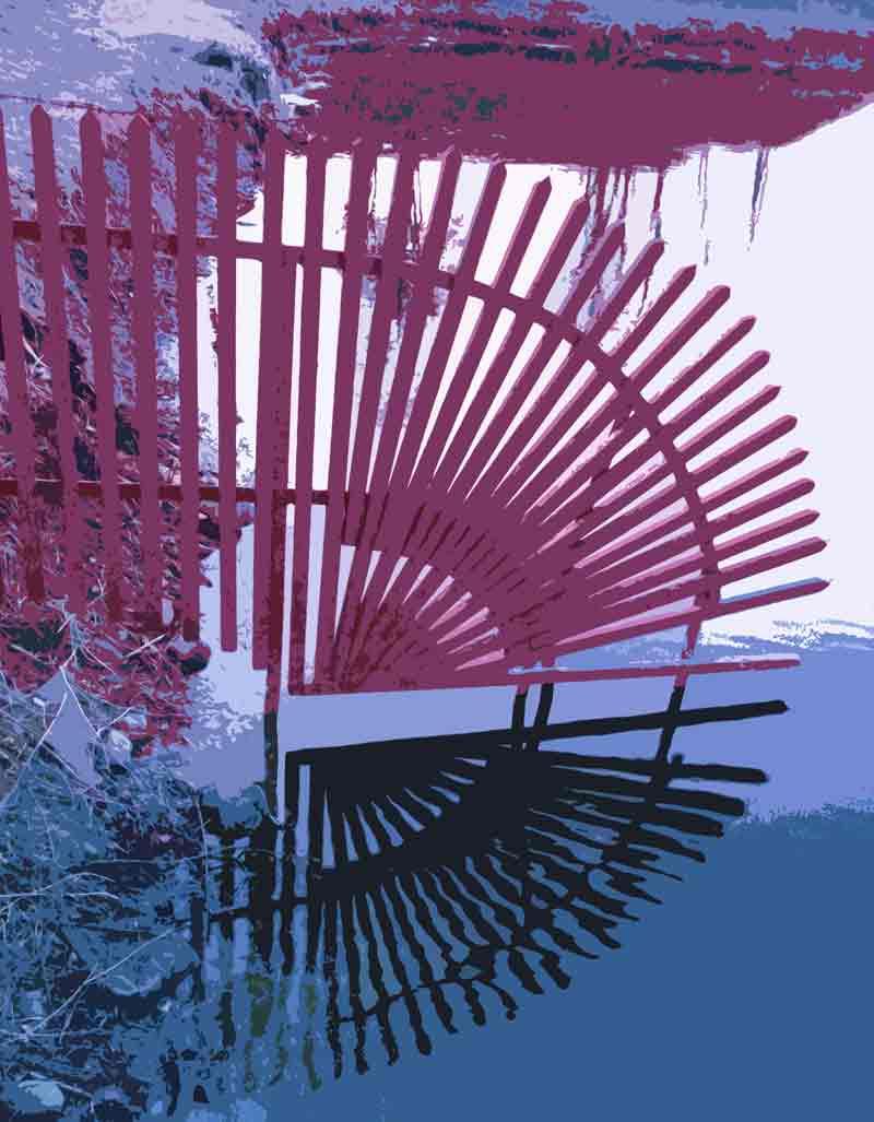 Art by Nicole Kudera, Red Reflections